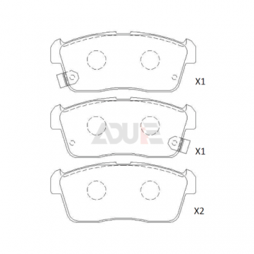 Ford Front Pronto Brake Pads | E-217