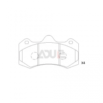 E-933 Sports Brake Pads Ford Focus RS