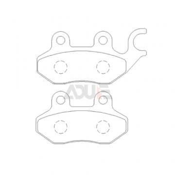 Peugeot Motorcycle Disc Brake Pad - E-1019-1